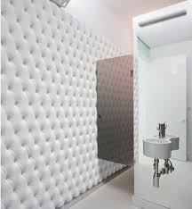 White Paneling For Bathroom Walls - interior contemporary bathroom decoration using tufted white