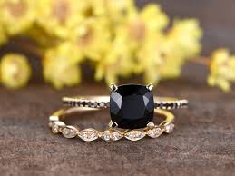 natural engagement rings images 7mm cushion cut vs natural black spinel engagement ring black jpg