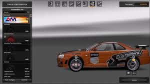 nissan r34 paul walker nissan skyline gtr r34 v1 mod for ets 2