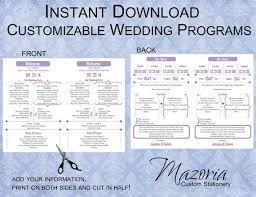 Wedding Program Stationary 17 Best Programs Images On Pinterest Wedding Ceremony Programs