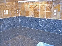 Miscellaneous  Venetian Gold Tile Countertop With Mosaic - Covering tile backsplash