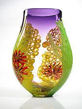 Glass Vase Art Unique Handmade Purple Art Glass Vases Artful Home