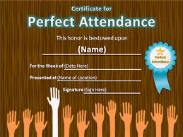 8 best images of perfect attendance certificate template