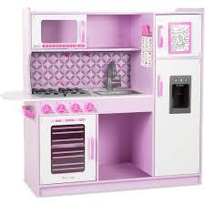 pink retro kitchen collection play kitchen pink clic toy wooden kitchen set reviews wayfair