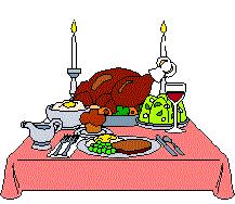 thanksgiving dinner table clipart 2070211