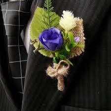 mens boutineer shop burlap flower boutonniere on wanelo