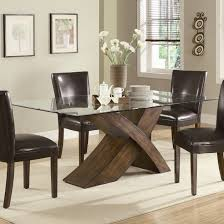 glass dining room furniture sets alluring modern dining room tables round shaped clear tempered