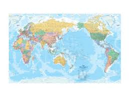 map world nz world pacific centered hema supermap laminated wall map auckland