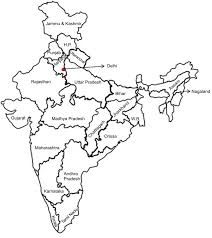 World Map Of India by Fig 1 Political Map Of India Showing Study Location State Of