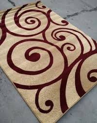 Modern Style Rugs Swirl Modern Style Contemporary Area Rugs 8 X 10 Burgundy On