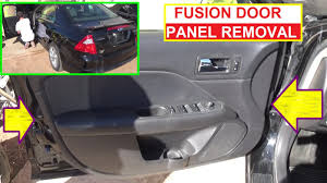 Ford Fusion Interior Door Handle Replacement Front Door Panel Removal Ford Fusion Second Generation 2009 2010