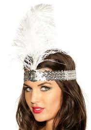 flapper headbands 1920 s flapper headband white 20 s costume accessory