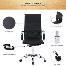 High Quality Office Chairs Ergonomic High Back Leather Executive Office Chair Computer Desk