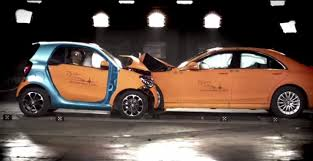 smart car crash smart fortwo passes crash test against s class indian cars bikes