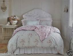 rachel ashwell simply shabby chic queen duvet set blue faded paper