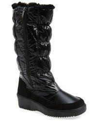 ugg australia alexandra water resistant suede wedge boot lyst ugg alexandra water resistant wedge bootie in black