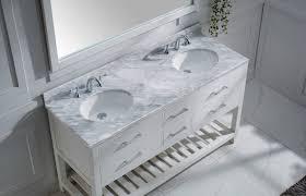 virtu usa caroline estate 60 double bathroom vanity set in white