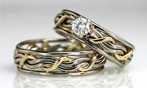 unique matching wedding bands his and hers unique wedding rings for him and cool wedding bands