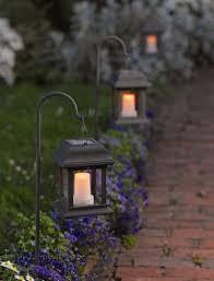 solar garden path lights solar flickering lantern to light the way stopmakingexcuses