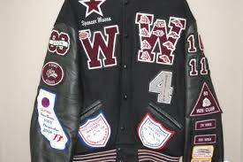 josten letterman jacket college letterwinner program valley high school columbia