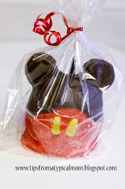 Caramel Apple Party Favors Mickey Mouse Caramel Apples For Parties Or Gifts Tips From A