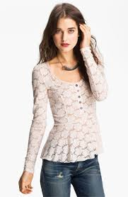 free people lace peplum henley great gift ideas under 100