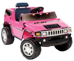 new girls pink ride on hummer electric 6v suv toy motorized barbie