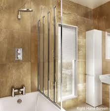 Shower Screens For Bath Cleargreen Hinged Bath Screen Four Fold Uk Bathrooms