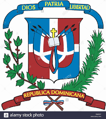Dominican Republic Flags Heraldry Emblem Dominican Republic National Coat Of Arms Stock