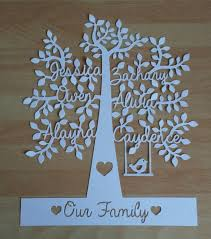 Housing Warming Gifts by Personalised Family Tree Paper Cut Unframed Birthday Present