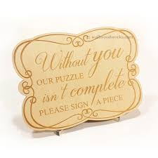 engravable wedding guest book winter wedding puzzle wall woodworks company