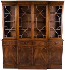 Break Front Bookcase Mahogany Breakfront Bookcase Wooden Shelves Shelves And Doors