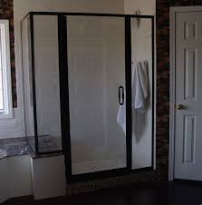 tub and shower doors custom shower doors etched and painted