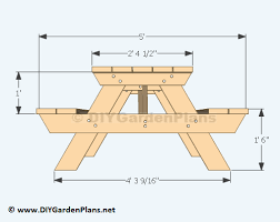 Outdoor Patio Table Plans Free by Free Picnic Table Plans 2x6 Outdoor Patio Tables Ideas