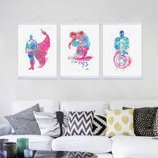 online get cheap pop art batman aliexpress com alibaba group original watercolor pop movie superhero batman wooden framed canvas painting home decor wall art print picture