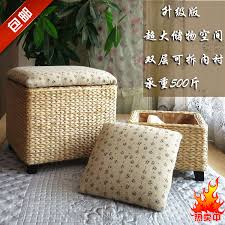 ikea simple rattan garden storage stool stool changing his shoes