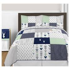 Navy Blue And Gray Bedding Sweet Jojo Designs Kids U0027 Bedding Target
