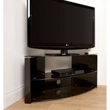 Corner Tv Cabinet For Flat Screens Ideal For Corner Installations Simple Tension Rod Assembly