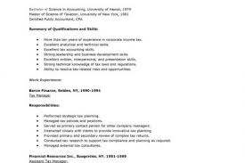 Sample Resume For Tax Accountant by Income Tax Resume Examples Reentrycorps