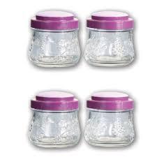 pasabahce garden 4 pcs 0 26l glass storage jar set lazada malaysia