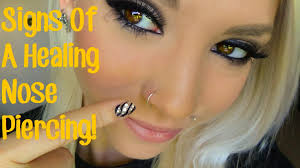 all nose rings images Signs of a healing nose piercing jpg
