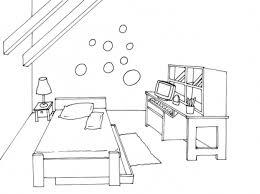 coloriage de chambre de fille dessin chambre bb une chambre bebe aux fraises chambre