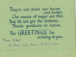 zoo writing paper happy 5th birthday world war zoo gardens newquay zoo inside the wartime birthday card a suitably foody rationing joke image author s collection
