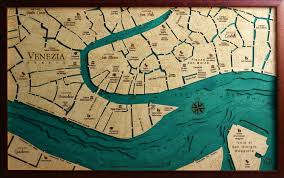 Map Venice Italy by Venice Map Laser Cut 100 Made In Italy