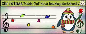 christmas treble clef note reading worksheets anastasiya