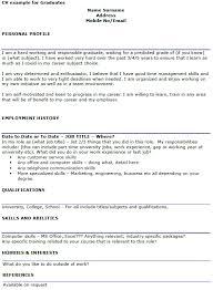cv formats for graduates graduate cv examples icover org uk