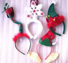 mistletoe hat christmas day works party headband ears snowflake