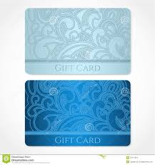 gift card business blue gift card discount card business card flo stock images