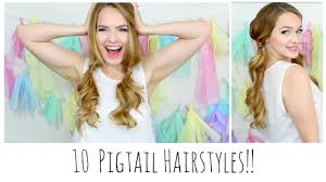 Easy Country Hairstyles by 10 Easy Pigtails You U0027ll Love Youtube