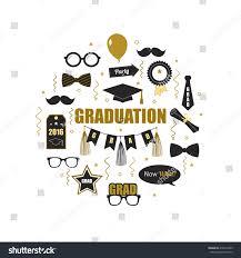 Graduation Invitation Cards Designs Graduation 2016 Icon Elements Round Design Stock Vector 416012395